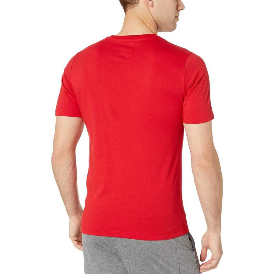 New Balance Team Red Essentials Stacked Logo Tee