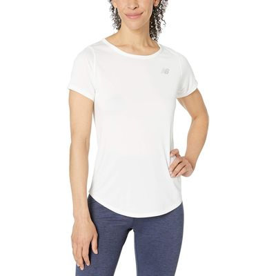 New Balance - New Balance White Accelerate Short Sleeve Top V2