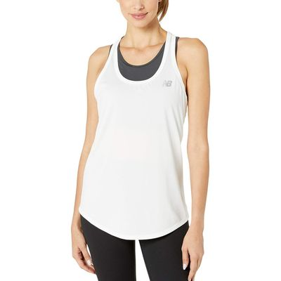 New Balance - New Balance White Accelerate Tank Top V2