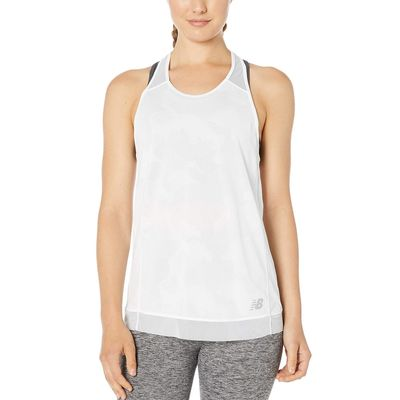 New Balance - New Balance White Q Speed Breathe Tank