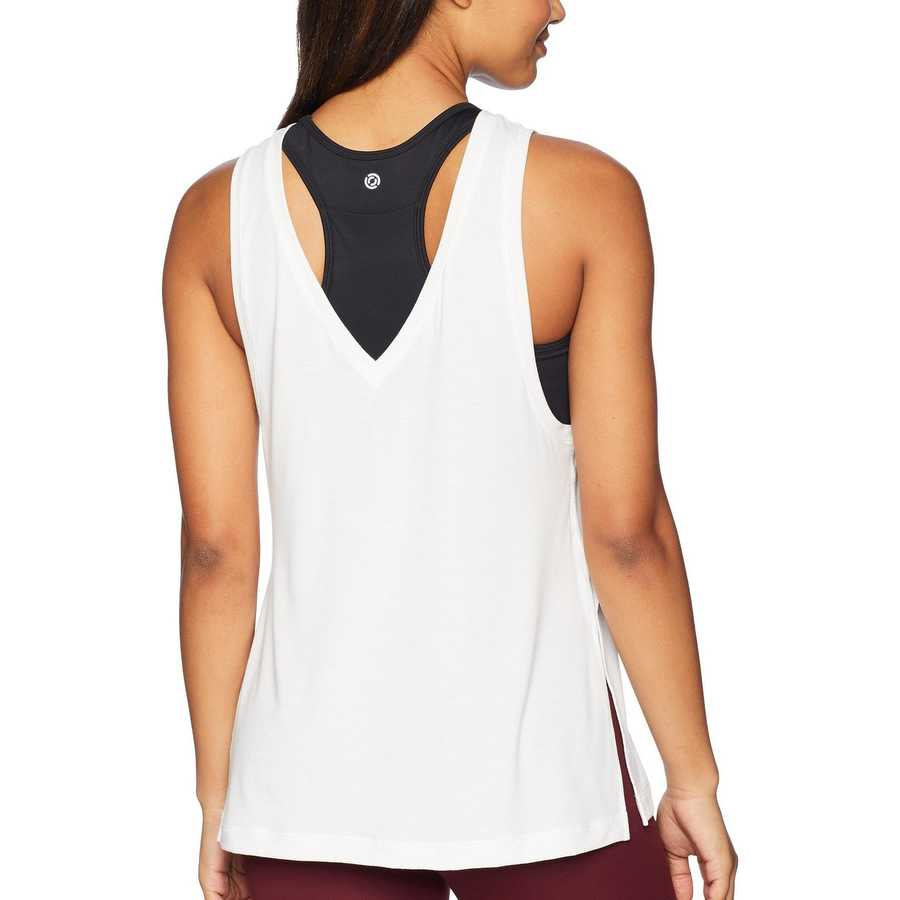 New Balance White Transform Two Way Tank Top