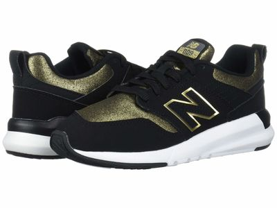 New Balance - New Balance Women Black/Gold Metallic Synthetic/Textile 009 Modern Classic Lifestyle Sneakers