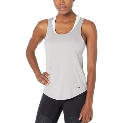 Nike - Nike Atmosphere Grey/Black Seasonal Essential Elastika Dry Tank Top