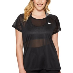 Nike Black Breathe Running Top (Size 1X-3X) - Thumbnail