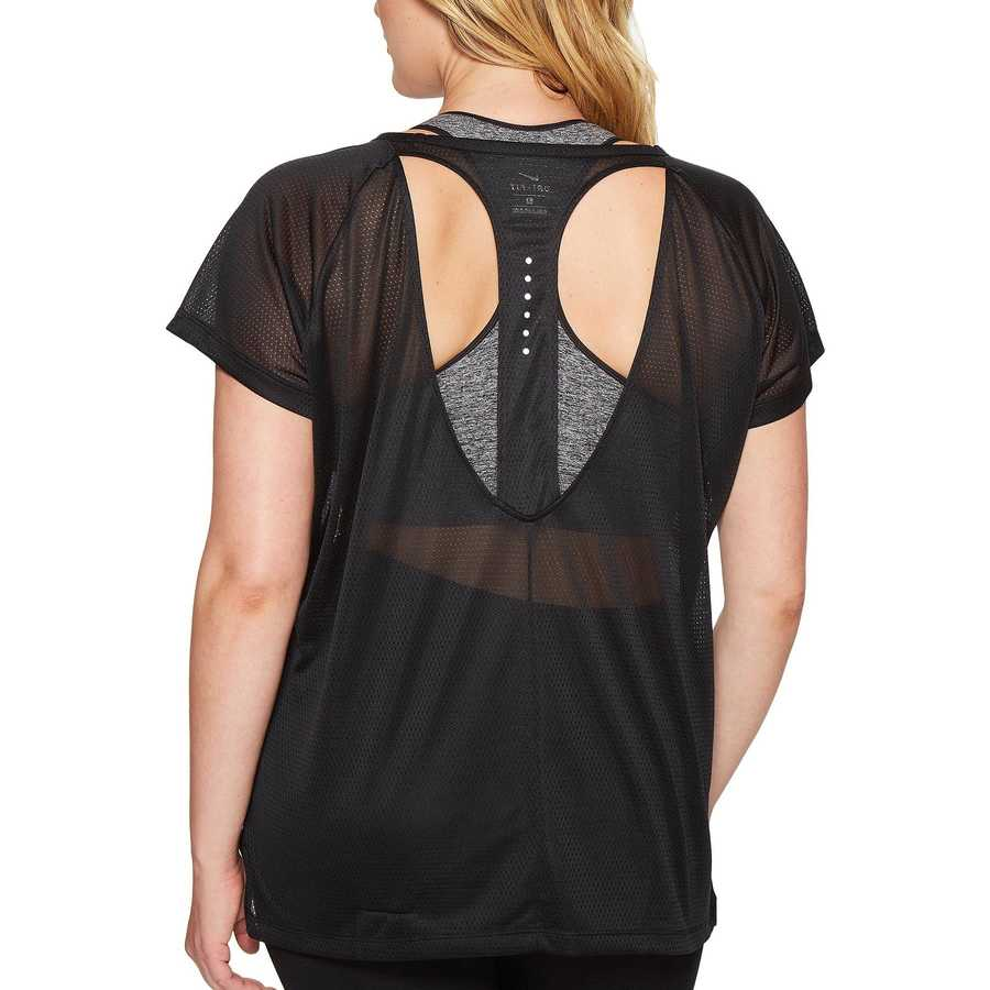 Nike Black Breathe Running Top (Size 1X-3X)