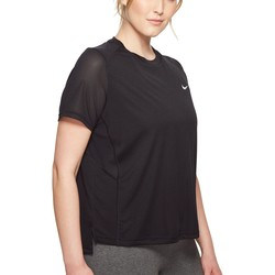 Nike Black Dry Miler Short-Sleeve Running Top (Sizes 1X-3X) - Thumbnail