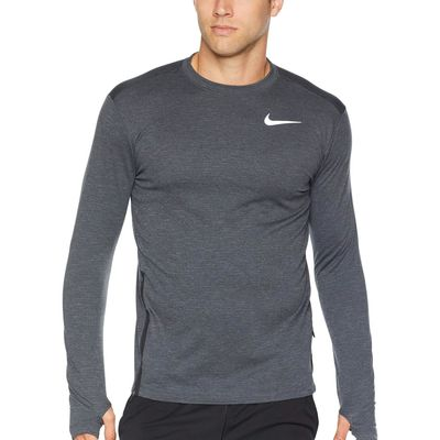 Nike - Nike Black/Heather Sphere Element Top Crew Long Sleeve 2.0