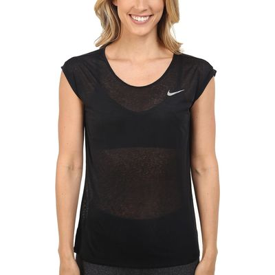 Nike - Nike Black/Reflective Silver Dri-Fıt™ Cool Breeze Running Top