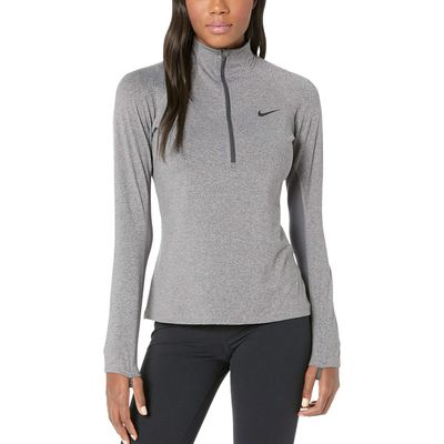 Nike - Nike Charcoal Heathr/Dark Grey/Black Pro Warm 1/2 Zip
