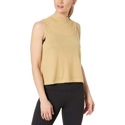Nike - Nike Club Gold/Black Dry Top Short Sleeve Crop Burnout