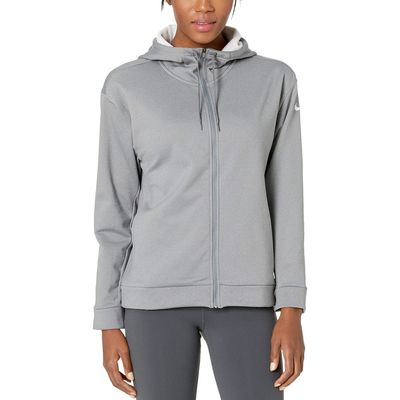 Nike - Nike Cool Grey/Heather/White Therma All Time Full Zip Hoodie