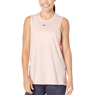 Nike - Nike Echo Pink/Pure/Black Pro Splice Just Do It Graphic Tank
