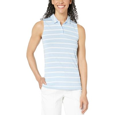 Nike - Nike Golf Aluminum/Aluminum Dry Polo Sleeveless Stripe