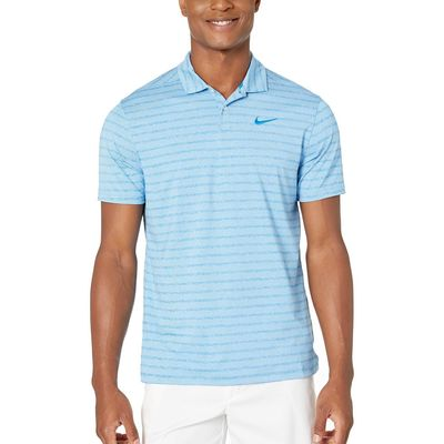 Nike - Nike Golf Photo Blue/Pure/Photo Blue Dry Vapor Stripe Polo