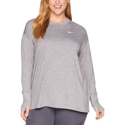 Nike - Nike Gunsmoke/Atmosphere Grey/Heather Element Crew Top (Sizes 1X-3X)