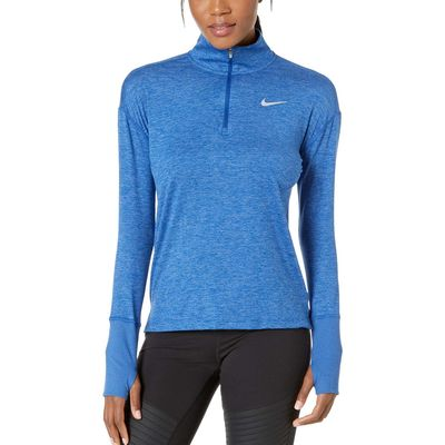 Nike - Nike Indigo Force/Reflective Silver Element 1/2 Zip Top