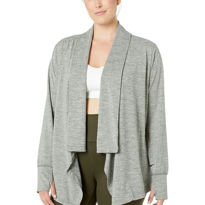 Nike - Nike Juniper Fog/Heather/Black Yoga Collection Cover-Up (Size 1X-3X)