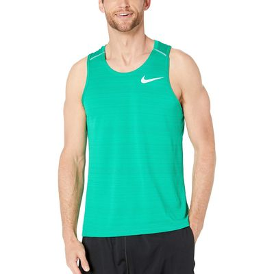 Nike - Nike Lucid Green/Lucid Green/Reflective Silver Dry Miler Tank Top