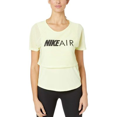 Nike - Nike Luminous Green/Black Air Top Short Sleeve Graphic