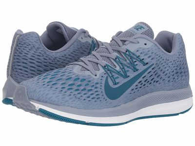 Nike - Nike Men Ashen Slate/Blue Force/Green Abyss/White Air Zoom Winflo 5 Running Shoes