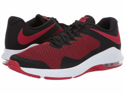 Nike - Nike Men Black/Gym Red Air Max Alpha Trainer Athletic Shoes