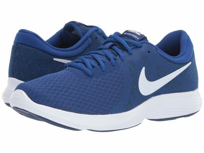 Nike - Nike Men İndigo Force/White/Blue Void Revolution 4 Running Shoes