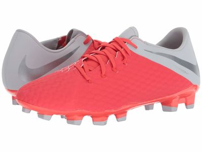 Nike - Nike Men Light Crimson/Metallic Dark Grey/Wolf Grey Phantom 3 Academy Fg Cleats