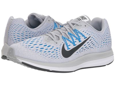 Nike - Nike Men Wolf Grey/Anthracite/Pure Platinum Air Zoom Winflo 5 Running Shoes