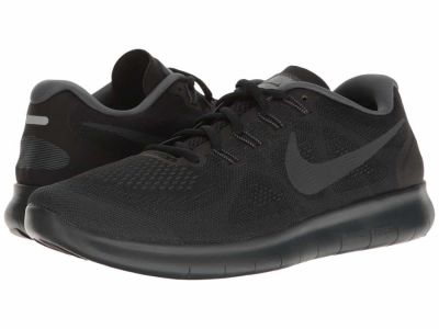 Nike - Nike Men's Black/Anthracite/Dark Grey/Cool Grey Free RN 2017 Running Shoes
