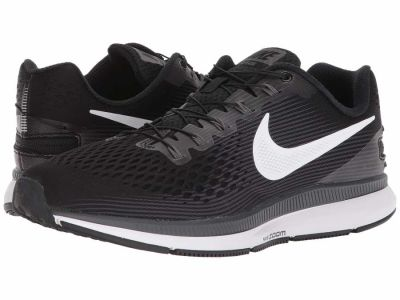 Nike - Nike Men's Black White Dark Grey Anthracite Air Zoom Pegasus 34 FlyEase Running Shoes