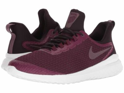 Nike - Nike Men's Bordeaux Burgundy Ash Summit White Renew Rival Running Shoes
