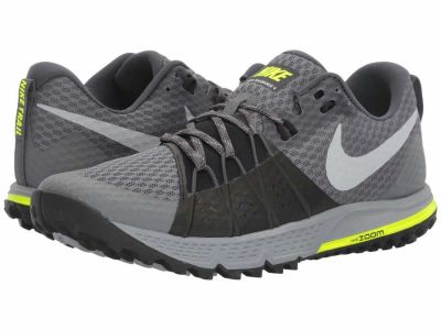 Nike - Nike Men's Dark Grey Wolf Grey Black Stealth Air Zoom Wildhorse 4 Running Shoes