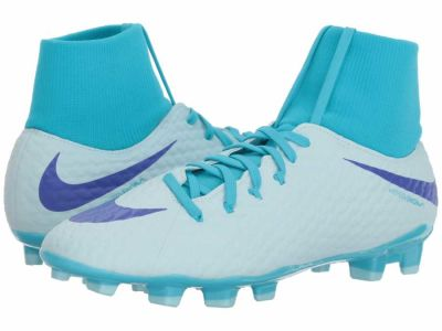 Nike - Nike Men's Glacier Blue Perisian Violet Gamma Blue Hypervenom Phantom 3 Academy Dynamic Fit FG Cleats