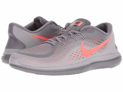 Nike - Nike Men's Gunsmoke/Total Crimson/Atmosphere Grey Free RN 2017 Running Shoes