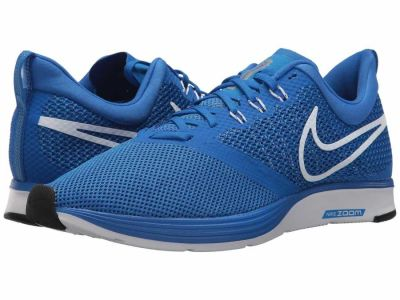 Nike - Nike Men's Hyper Cobalt White Photo Blue Metallic Silver Black Zoom Strike Running Shoes