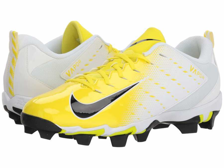 92a839e33462 Nike Men's White Black Dynamic Yellow Black Vapor Shark 3 Cleats ...
