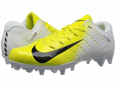 Nike - Nike Men's White Black Dynamic Yellow Black Vapor Varsity 3 TD Cleats