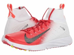 Nike Men's White Black University Red Total Crimson Vapor Speed Turf 2 Cleats - Thumbnail