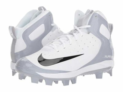 Nike - Nike Men's White Black Wolf Grey Alpha Huarache Pro Mid MCS Cleats