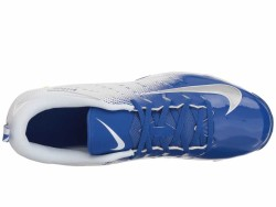 Nike Men's White Metallic Silver Game Royal Vapor Shark 3 Cleats - Thumbnail