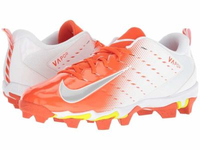 Nike - Nike Men's White Metallic Silver Rush Orange Vapor Shark 3 Cleats
