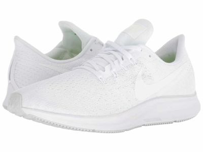 Nike - Nike Men's White/Summit White/Pure Platinum Air Zoom Pegasus 35 Running Shoes