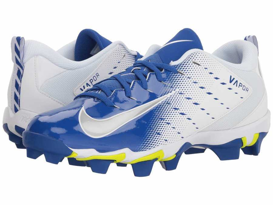 5b04b17770f4 Nike Men's White/Metallic Silver/Game Royal Vapor Shark 3 Cleats ...