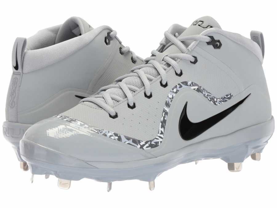 Nike Men's Wolf Grey Black Cool Grey Dark Grey Air Trout 4 Pro Cleats