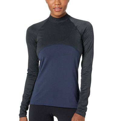 Nike - Nike Obsidian/Black Pro Warm Long Sleeve Champagne Top