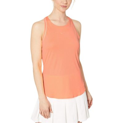 Nike - Nike Orange Pulse/White/White/Orange Pulse Court Dry Tank Top