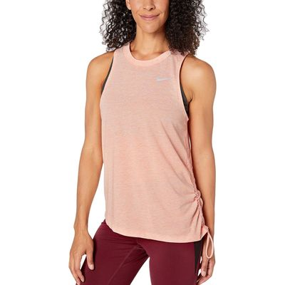 Nike - Nike Pink Quartz/Heather/Reflective Silver Miler Tank Cinched
