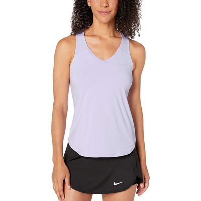 Nike - Nike Purple Agate/Purple Agate Nike Court Team Pure Tennis Tank Top