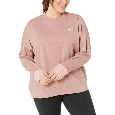 Nike - Nike Rust Pink/Heather Thermasphere Element Top (Sizes 1X-3X)