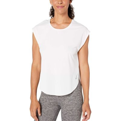 Nike - Nike White/Reflective Silver City Sleek Top Short Sleeve